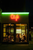 Cafeteria by night — Stock Photo
