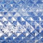 Blue glass texture — Stock Photo