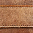 Leather with stitching — Stock Photo