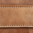 Stock Photo: Leather with stitching