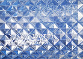 Blue glass texture — Stock Photo