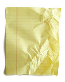 Yellow notebook paper — Stock Photo