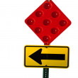Stock Photo: Stop and turn street sign