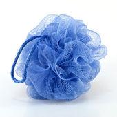 Blue bath puff — Stock Photo