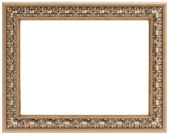 Rectangular gold carved frame for a mirror or a picture — Stock Photo