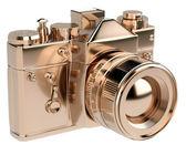 Zlaté fotoaparát — Stock fotografie