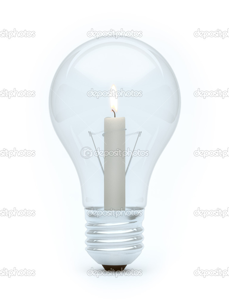 Candle bulb  Stock Photo #10464974