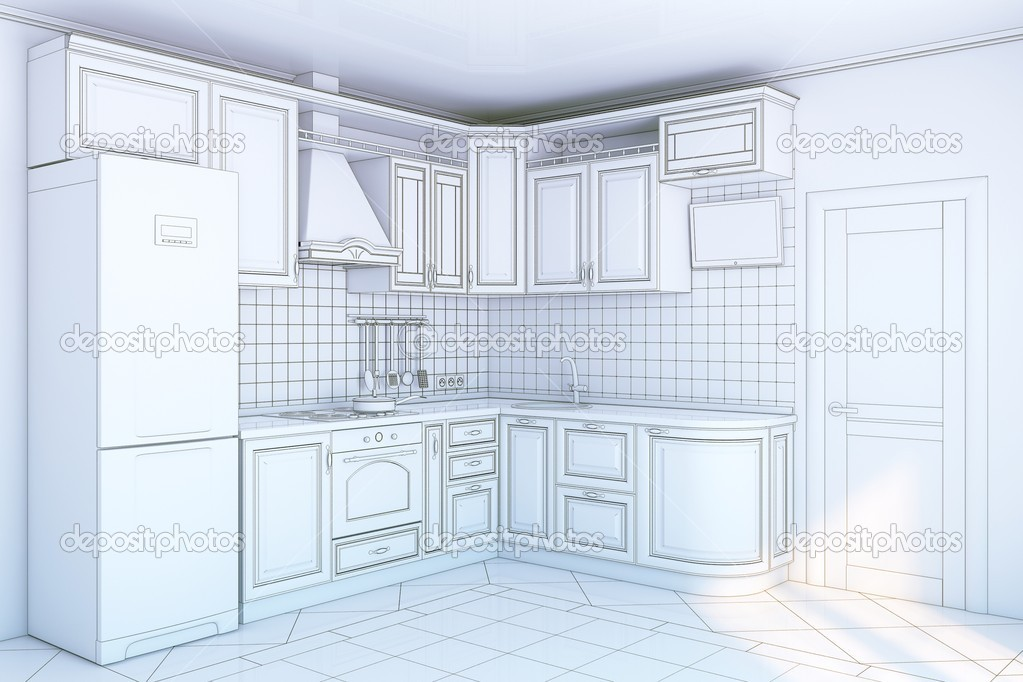 Kitchen blueprint — Stock Photo © Dmytro Grankin #