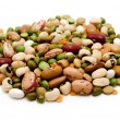 Dried legumes and cereals — Stock Photo