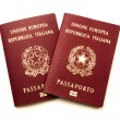 Italian biometric e-passports — Stock Photo