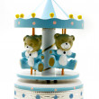 Wooden toy carousel — Stock Photo