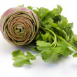 Artichoke and parsley — Stock Photo