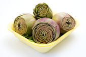 Group of artichokes — Stock Photo