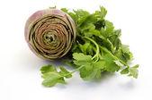 Artichoke and parsley — Stock Photo