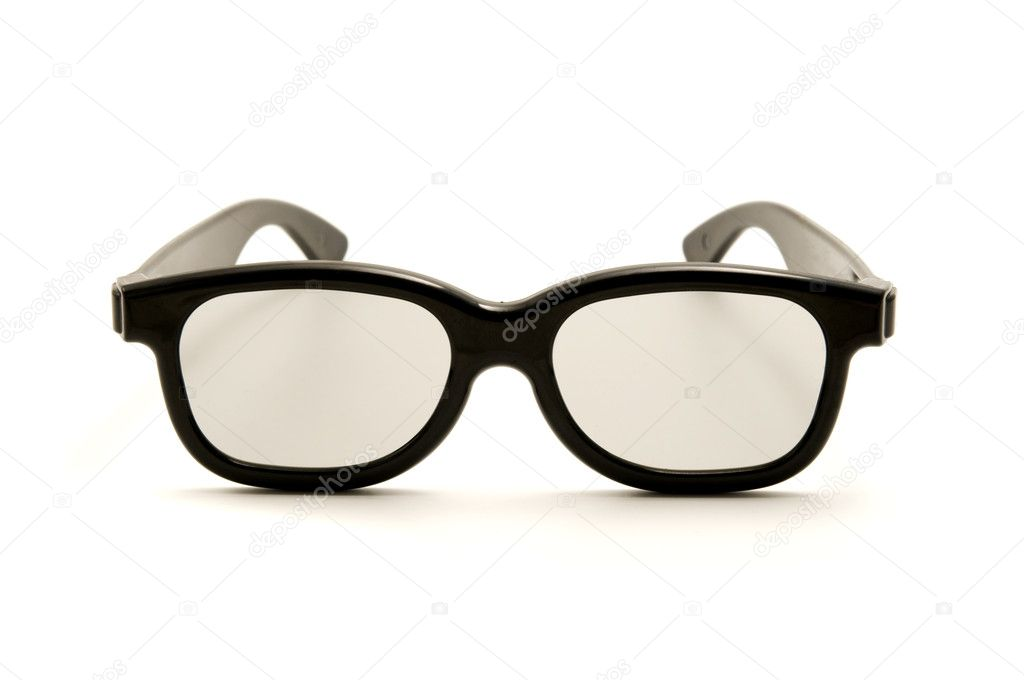 Polarized 3D glasses on a white background  Stock Photo #10293391
