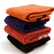 Piled towels — Stock Photo