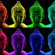 Pop art buddha — Stock Photo #10313566