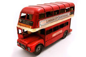 Red Double Decker toy — Stock Photo