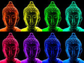Pop art buddha — Stock Photo