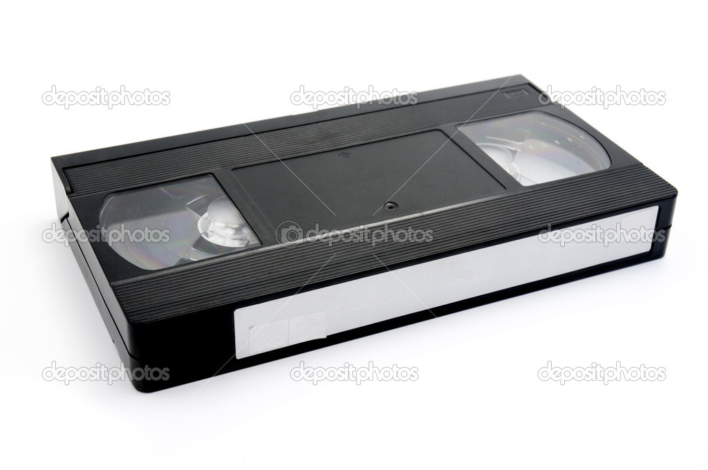 Old  vhs cassette on a white background — Stock Photo #10310973