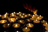 Strony oświetlenie świece — Zdjęcie stockowe