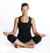 Meditating_woman — Stock Photo