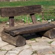 Stock Photo: Wooden bench