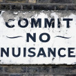 Commit no nuisance — Stock Photo #10318609