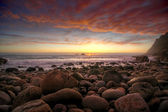 Sunset at Porth Nanven — Stock Photo