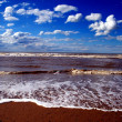 North sea in Flanders Belgium — Stock Photo
