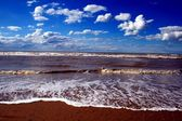 North sea in Flanders Belgium — Stock Photo
