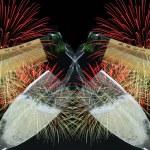 Fireworks scene — Stock Photo