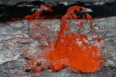 Lava bubble in a lava lake — Stock Photo