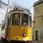 Yellow Tram in Lisbon — Stock Photo #10356863