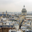 Roofs of Paris with the Pantheon, France — Stock Photo