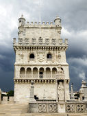 Belem Tower just before the storm — Stock Photo