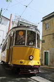 Yellow Tram in Lisbon — Stock Photo