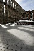 Romanesque Aqueduct of Segovia — Stock Photo