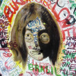 Graffiti, portrait of John Lennon — Stock Photo