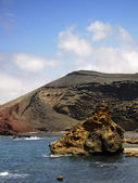 El Golfo volcanic zone (Lanzarote) — Stock Photo