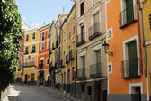 Colorful houses in the streets of Cuenca, Spain — Stock Photo