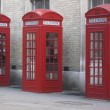 Phone booths in London — Stok fotoğraf
