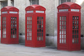 Phone booths in London — Stock fotografie