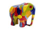 Farbige elefanten — Stockfoto