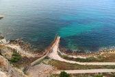 Aguadu cliff,Melilla. — Stock Photo
