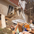 Tornado aftermath in Lapeer, MI. — Stock Photo
