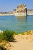 Lone Rock in Lake Powell, Page, Arizona — Stock Photo