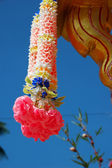 Flower decoration in Thailand temple — Стоковое фото