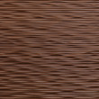 Coated wooden corrugated wall - Stock Photo
