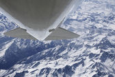 Looping over alps aerial photo — Stock Photo